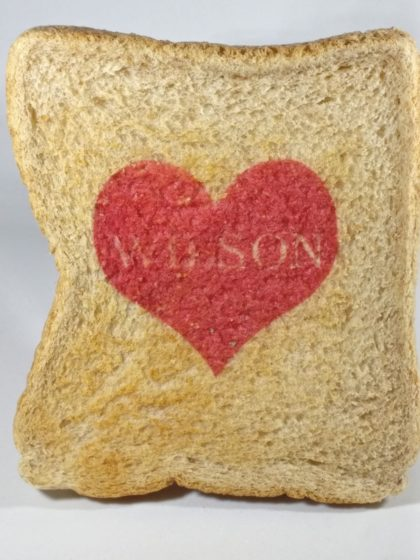 Custom name printed valentine heart toast