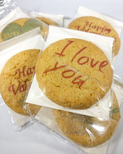 I Love You Printed Valentine Biscuits