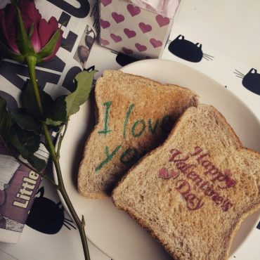 Valentines Day Printed Bread Toast