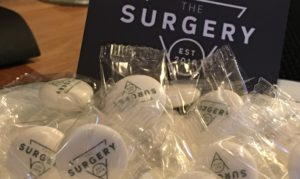 The Surgery Restaurant and Bar custom printed mints